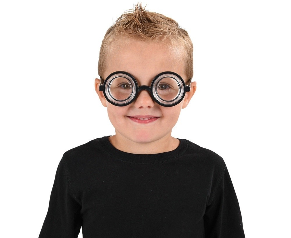 Childs Clear Round Lenses Wizard Glasses Kids Book Week Party Glasses Accessory