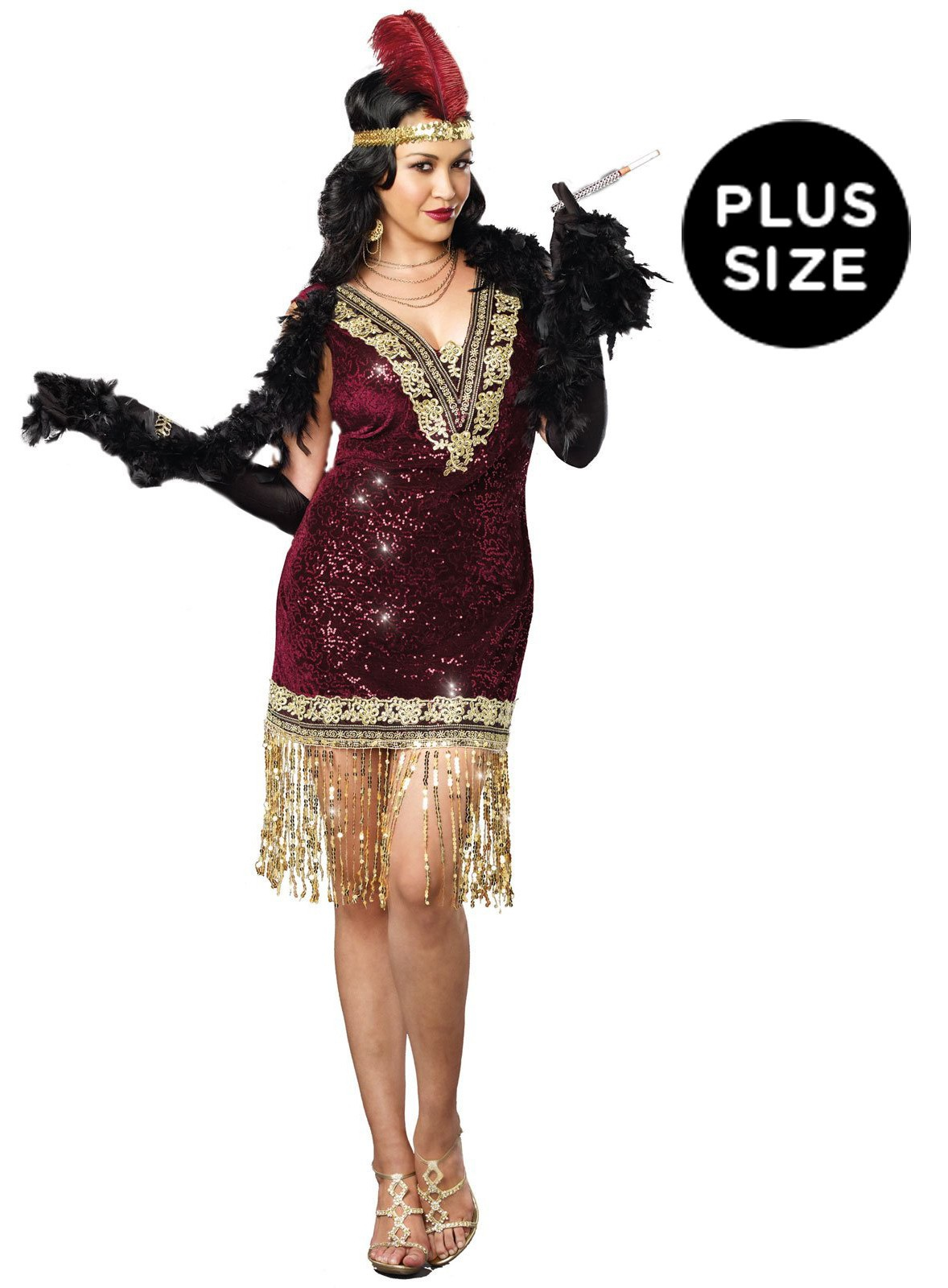Sophisticated Lady 1920 S Plus Size Flapper Adult Costume