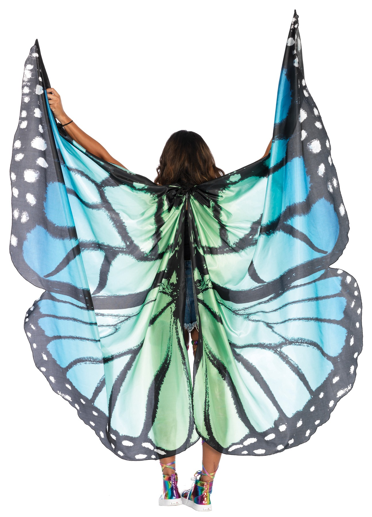 Monarch Butterfly Blue Festival Wings Adult Costume