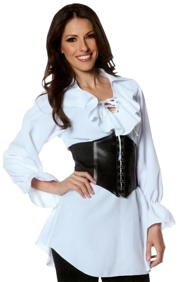 551c8e0af4a Pirate Laced Front Blouse Adult Plus Size Women's Costume | Costumes ...