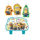 Despicable Me Minion Made Happy Birthday Mini Moulded Candle Set of 4_thumb.jpg