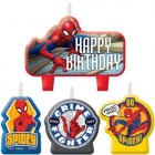 Spider-Man Webbed Happy Birthday Mini Moulded Candle Pack of 4_thumb.jpg