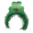 St. Patrick's Day Metallic Marabou Kiss Me I'm Irish Tiara_thumb.jpg