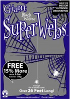 Spider Web Webbing Adult Costume Accessory Black_thumb.jpg