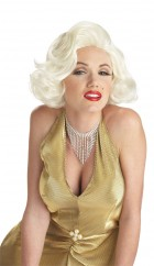 1950's Womens Classic Marilyn Monroe White/Blonde Wig_thumb.jpg