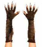 Wolf Gloves Werewolf Claws Hands Adult Costume Accessory Brown_thumb.jpg