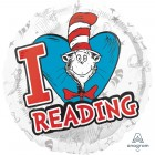 Dr. Seuss Cat in the Hat Hats Off to Reading 45cm Foil Balloon_thumb.jpg