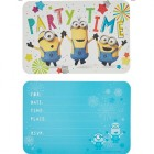 Despicable Me Minion Made Party Time Invitations Pack of 8_thumb.jpg