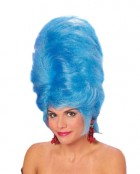 1950's Classic Retro Beehive Wig Women's Costume Hair Accessory Blue_thumb.jpg