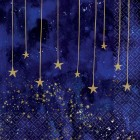 Midnight New Year's Eve Stars Lunch Napkins Pack of 16_thumb.jpg