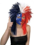 Sport Fanatic Wig Costume Accessory Red/White/Blue_thumb.jpg
