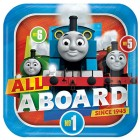 Thomas the Tank Engine All Aboard Square Paper Dinner Plates Pack of 8_thumb.jpg