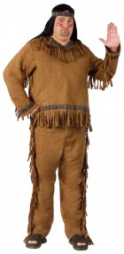 Native American Indian Adult Plus Costume One Size_thumb.jpg