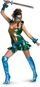 Teenage Mutant Ninja Turtles Sexy Leonardo Blue Deluxe Adult Women's Costume_thumb.jpg