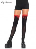 Dripping Blood Black Red Woven Knee High Adult Socks_thumb.jpg