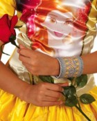 Beauty and the Beast Belle Fabric Cuff Bracelet Child_thumb.jpg