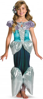 Ariel Deluxe Little Mermaid Disney Princess Fairy Tale Book Week Women Costume