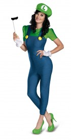 Super Mario Bros. - Luigi Female Deluxe Plus Size Adult Women's Costume_thumb.jpg