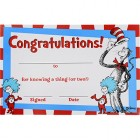 Dr. Seuss The Cat in the Hat Congratulations Certificates Pack of 36_thumb.jpg