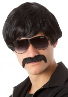 70's Detective Black Mod Wig & Moustache Adult Set_thumb.jpg