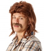 80's Brown Mullet Wig & Moustache Adult Set_thumb.jpg