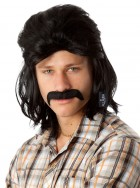 80's Black Mullet Wig & Moustache Adult Set_thumb.jpg