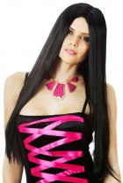 Wicked Witch Morticia Long Black High Fibre Heat Resistant Adult Wig_thumb.jpg