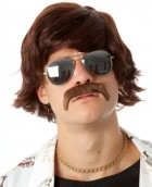 70's Shag Bee Gees Brown Adult Wig & Moustache Set_thumb.jpg