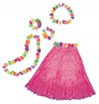 Hawaiian Adult Luau Beach Party Costume Set Pink_thumb.jpg
