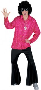 Disco Groovy 1970s Mens Costume Shirt One Size_thumb.jpg