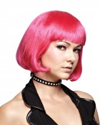 Hot Pink Black Light Reactive Bob Women's Wig Costume Accessory_thumb.jpg