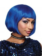 Short Straight Hair Bob Wig Cosplay Party Accessory Blue_thumb.jpg