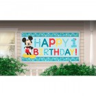 Mickey Mouse Fun to Be One Happy 1st Birthday Plastic Banner_thumb.jpg