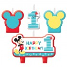 Mickey Mouse Fun to Be One 1st Birthday Mini Moulded Candle Pack of 4_thumb.jpg