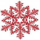 Red Glitter Snowflake Hanging Decoration 17cm_thumb.jpg