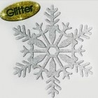 Medium Silver Glitter Snowflake Hanging Decoration 16cm_thumb.jpg