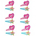 My Little Pony Hearts & Stars Plastic Glitter Hair Clips Pack of 12_thumb.jpg
