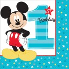 Mickey Mouse Fun to Be One 1st Birthday 2 Ply Lunch Napkins Pack of 16_thumb.jpg