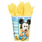 Mickey Mouse 1st Birthday Paper Cups 266ml Pack of 8_thumb.jpg