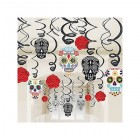 Skull Hanging Swirl Decorations Mega Value Pack of 30_thumb.jpg