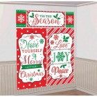 Merry Christmas Messages Plastic Scene Setter Wall Decorating Kit_thumb.jpg