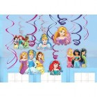 Disney Princesses Cardboard Hanging Swirl Decorations Value Pack of 12_thumb.jpg