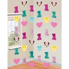 Minnie Mouse Fun to Be One 1st Birthday Foil Cardboard Cutout String Decorations Pack of 6_thumb.jpg