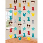 Mickey Mouse Fun to Be One 1st Birthday Foil Cardboard Cutout String Decorations Pack of 6_thumb.jpg