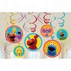 Sesame Street Hanging Swirl Cardboard Decorations Value Pack of 12_thumb.jpg