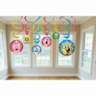 SpongeBob SquarePants Hanging Swirl Decorations Pack of 12_thumb.jpg