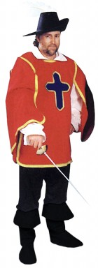Cavalier Man Adult Costume Red One Size_thumb.jpg