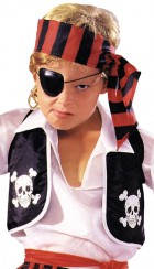 Pirate Vest Child's Skull & Crossbones Costume Accessory_thumb.jpg