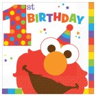 Sesame Street Elmo 1st Birthday Lunch Napkins Pack of 16_thumb.jpg