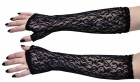 Elbow Gloves Black Lace Fingerless 1980's Women's Costume Accessory_thumb.jpg